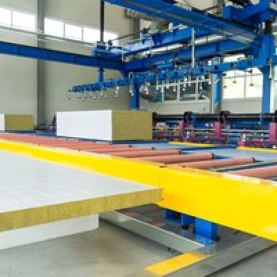 Production of wall and roofing materials, as well as glass envelopes of Lisec Austrian manufacturing plant